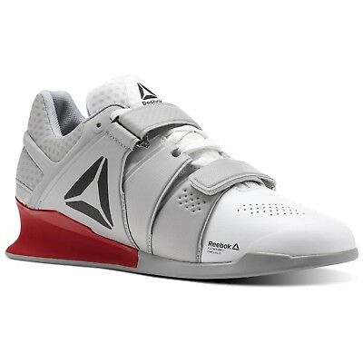 2e383a6169ab REEBOK Mens LEGACY LIFTER Fitness Training Lifting Shoe White Grey Red ALL  SIZES