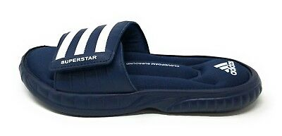 sports shoes ad844 43703 Adidas Mens Superstar 3G Slide Sandal Collegiate Navy Blue White Size 5 D US