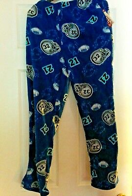 Boy's Blue Soft Football Pajamas Pants New