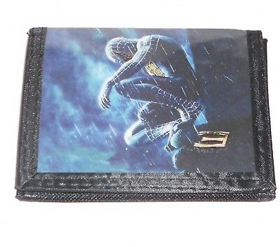 Amazing Spiderman Black Canvas Trifold Wallet By Marvel For Boys/Kids