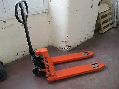 Slingsby Pallet Truck with Brake, Ideal for Tail Lift work or Sloping Floors