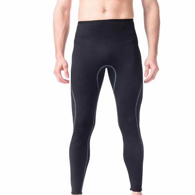 Mens Warm Neoprene Wetsuit Pants Swimming Diving SCUBA Surf Trousers Tights S-XL