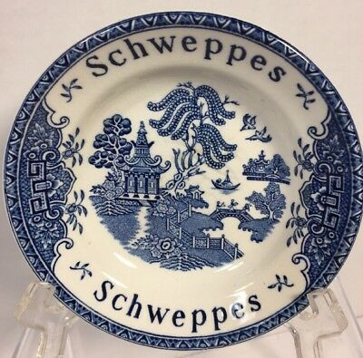 Vintage Schweppes Blue Willow Tip Bowl Enoch Wedgewood Tunstall LTD England C05