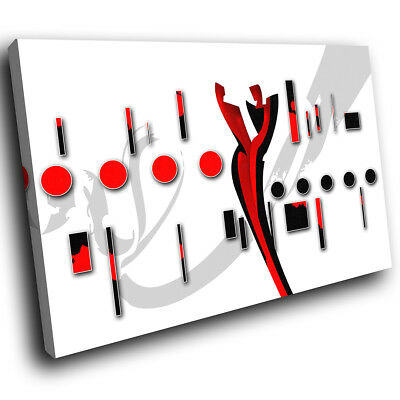 AB683 Modern red black record disc Canvas Wall Art Abstract Picture Large Print