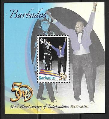 BARBADOS 2016 50th ANNIV OF INDEPENDENCE M/S MNH