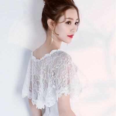 Bride Wedding Lace Tulle Shawl Chic Thin Tippet Bolero Jacket Lady Cape Wrap Red
