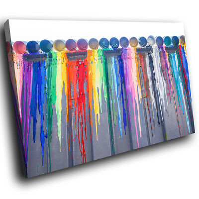 AB1286 Colourful Cool Funky Modern Abstract Canvas Wall Art Large Picture Prints