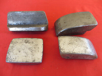 4x Vintage Unusual Auto Body Dolly Lot Right Angle Metalworking Tools Hand Anvil