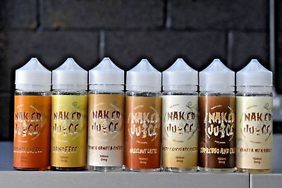 Naked Juice E Liquid Vape Juice 100ml ShortFill 0mg 70/30 **ALL COFFEE RANGE**