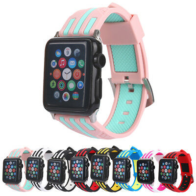 Women/Mens Silicone Band For Apple Watch 38/42mm 40/44mm Sports Wristband Strap
