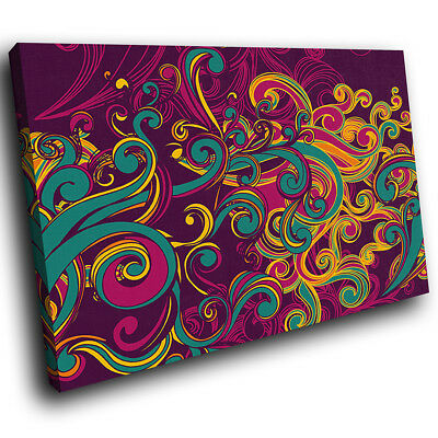 AB913 Colourful Retro Funky Modern Abstract Canvas Wall Art Large Picture Prints