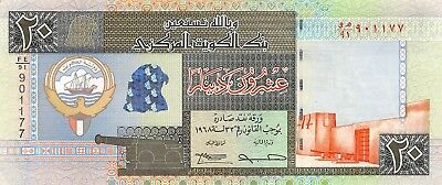 Kuwait  20  Dinars  1994   P 28a  Series  FE/91  Circulated Banknote ME518W