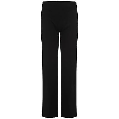 Ladies Ex-M&S Black Active Performance Wide Waistband Joggers - Various Sizes