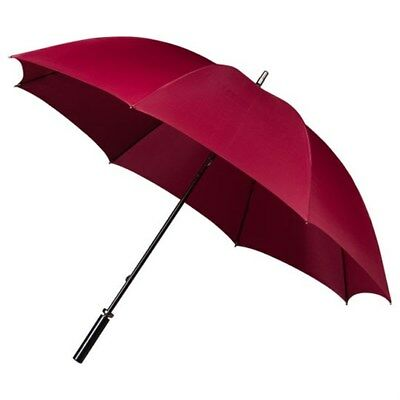 Ladies Golf Umbrella Lightweight - Windproof - Double Strong Ribs - Burgundy Red