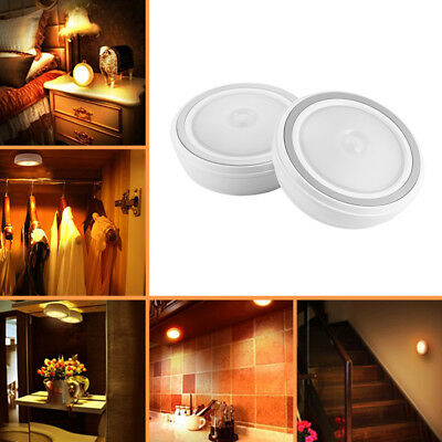 2x PIR Hanging Night Light Motion Sensor LED Cabinet Light Stair Closet LD1132