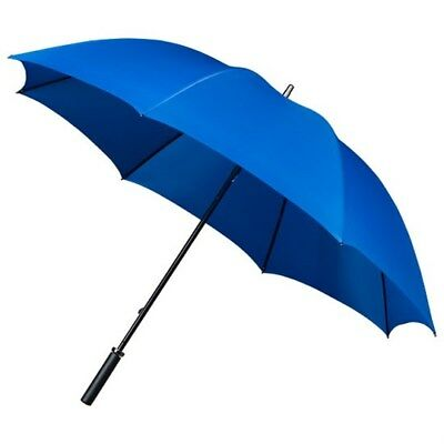 Sky Blue Golf Umbrella with Windproof Spring & Lightweight Double Ribs - 125 cm