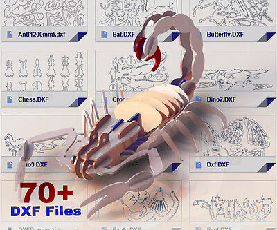 70+ DXF CNC // 3D puzzle and 2D files for laser, plasma cutter, waterjet