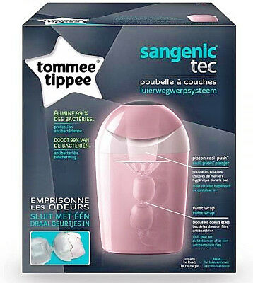 Poubelle à couches Tommee Tippee TEC Sangenic - rose