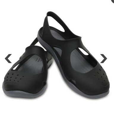 41ee316e4f0 NEW Crocs Swiftwater Wave water shoes Sandals Women s Size 10 BLACK NWOT