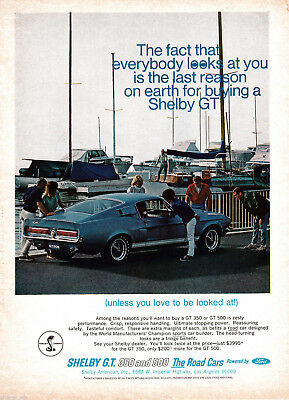 1967 Ford Shelby GT 350 + 500 Original Magazine Ad Sports Car The Ultimate Car