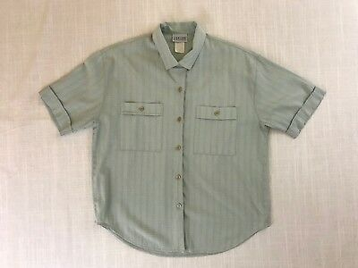Vintage Jantzen Classics Button-Up Short Sleeve Shirt Men's Size Large