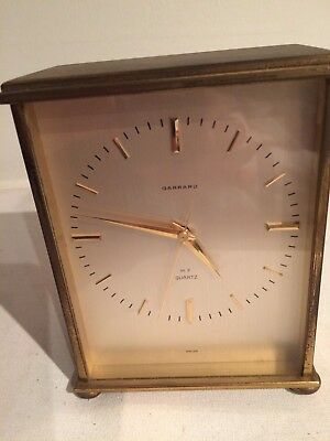 Garrard Brass Mantel Carriage Clock Battery Operated