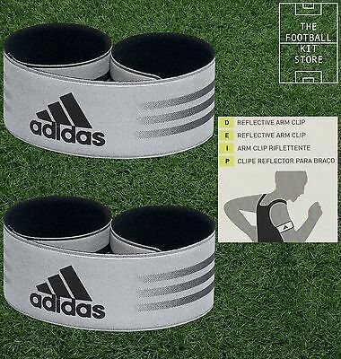 Adidas Reflective Arm Clips / Bands - Pack of 2 - Visibility - Running / Cycling