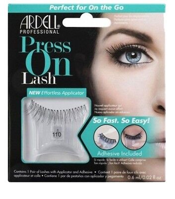 Ardell Professional Press-On Lashes Self-Adhesive Style 110 Black (Pack of 2)