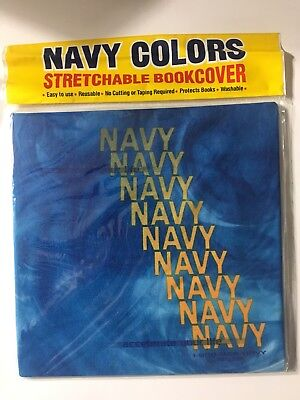 Navy Colors - American Navy Book Cover - Stretchable
