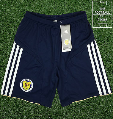 Scotland Away Shorts - Official Adidas Boys Football Shorts - 13-14 Years