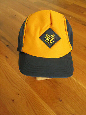 Cub Scout Wolf Hat Blue Yellow Cap BSA Youth Hat Snap Back