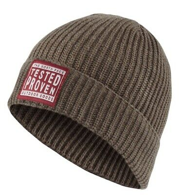 The North Face Pepper Dog Beanie In Falcon Brown (One Size)