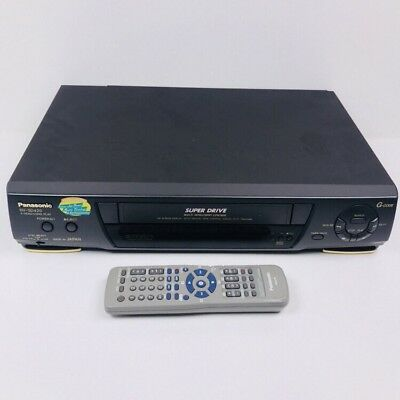 Panasonic NV-SD420 Video Recorder Player + REMOTE VHS Player VCR, Tested Working