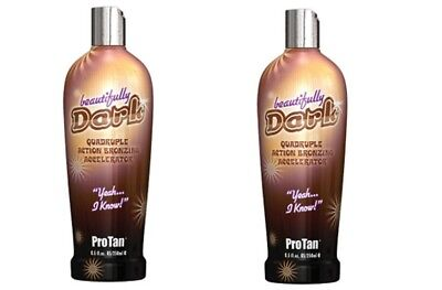 2 Pro Tan Beautifully Dark Bronzer Indoor Tanning Bed Lotion  8.5 oz