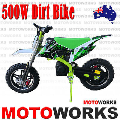NEW MOTOWORKS 36V 800W WATT Electric DIRT TRAIL PIT MOTOR 2 WHEELS PRO BIKE gre