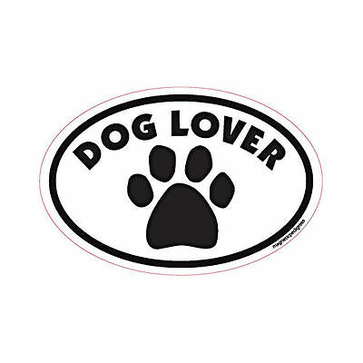 Dog Lover Oval Euro Style Car Dog Magnet