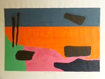 Vintage ABSTRACT MODERNIST COLORIST PAINTING MID CENTURY MODERN Signed 1972