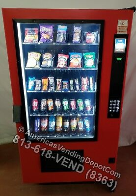 NEW! AMS Outsider Snack and Soda Vending Machine, High Security, Outdoor Rated