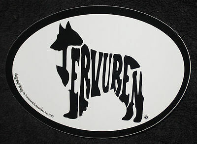 Belgian Tervuren Oval Euro Style Car Dog Decal Sticker