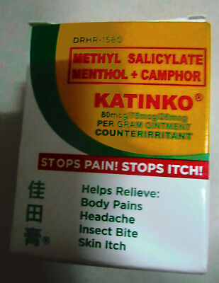 Katinko ointment STOPS PAIN ITCH INSECT BITE  HEADACHE SPRAIN 30 GRAMS new stock