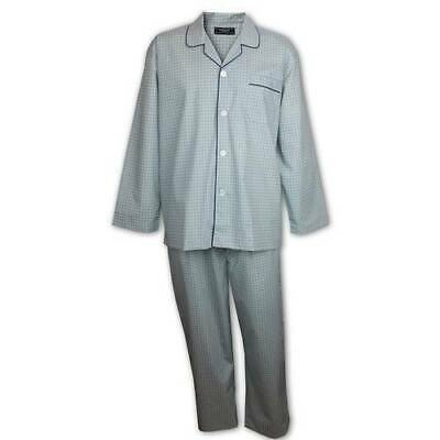 Mens Pyjamas 2-7XL Contare Long Sleeve Night Shirt Pjs (GNA) Grey Navy Blue