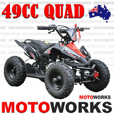 MOTOWORKS 49CC SPORTS ATV QUAD Pocket Dirt Bike Gokart mini 4 Wheeler kids RED