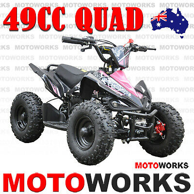 MOTOWORKS 49CC SPORTS ATV QUAD Pocket Dirt Bike Gokart mini 4 Wheeler kids PINK