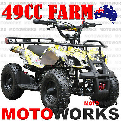 49CC QUAD ATV Bike Motoworks FARM Pocket Gokart 4 Wheeler mini Buggy kids BLACK
