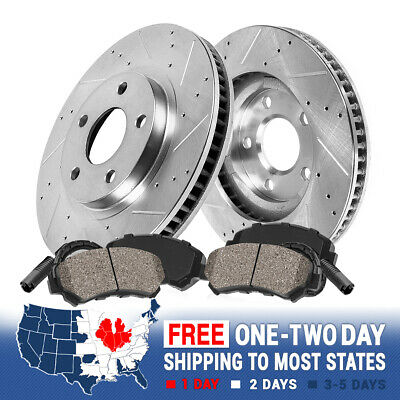 Front Drill Slot Brake Rotors /& Ceramic Pads For Mercedes Benz E320 W211 E350