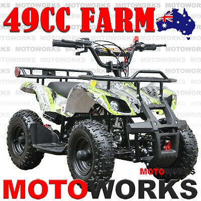49CC QUAD ATV Bike Motoworks FARM Pocket Gokart 4 Wheeler mini Buggy kids GREEN