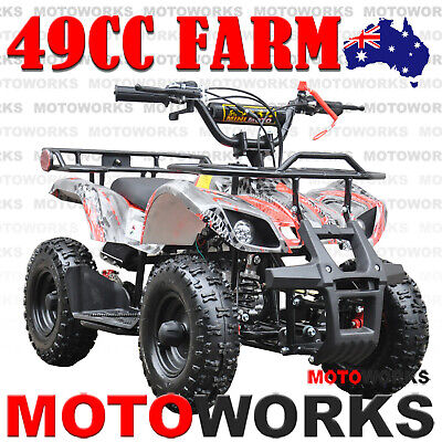 49CC QUAD ATV Bike Motoworks FARM Pocket Gokart 4 Wheeler mini Buggy kids RED
