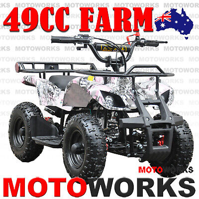 49CC QUAD ATV Bike Motoworks FARM Pocket Gokart 4 Wheeler mini Buggy kids PINK