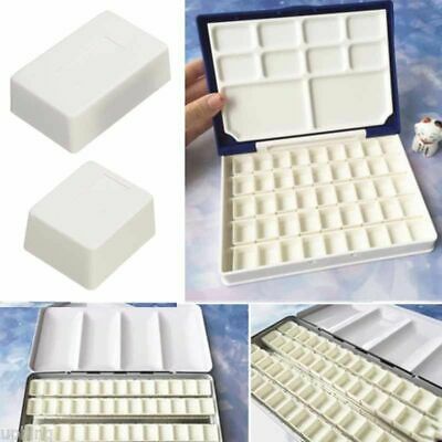 40X Water Colour Watercolour Empty Case Half Paint Pans Art Drawing Palette Box