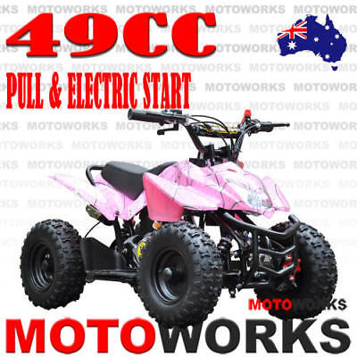 49CC ELECTRIC START SPORTS ATV QUAD Pocket Dirt Bike mini 4 Wheeler kids PINK